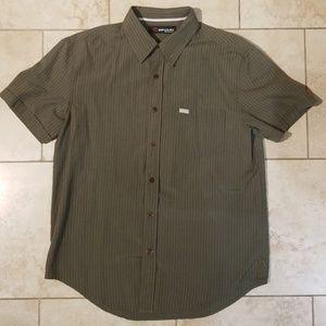 Rip Curl Striped Button Down Shirt